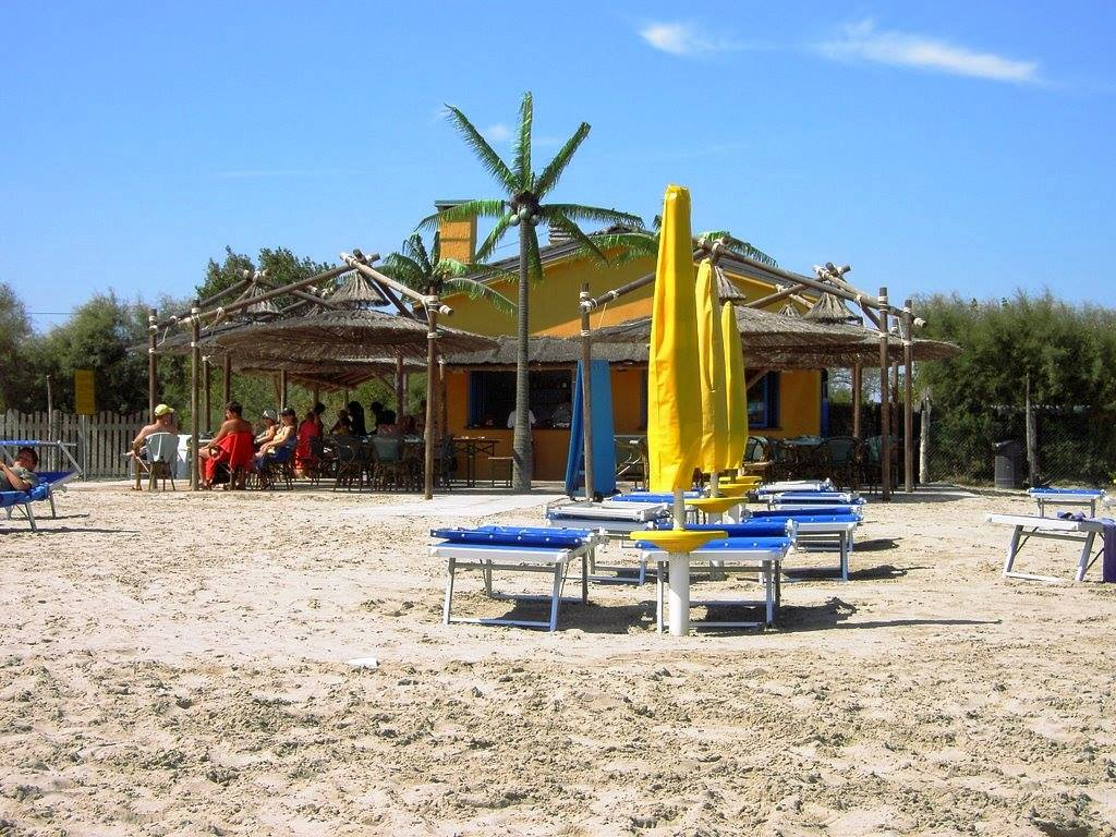 Campingen direkt vid Adriatiska havet